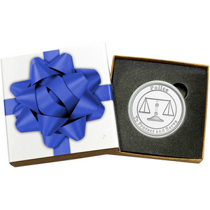 Police Protect and Serve 1oz .999 Silver Medallion in Gift Box