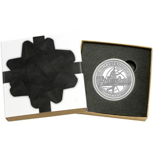Volleyball Bump Set Spike Dominate! 1oz .999 Silver Medallion in Gift Box