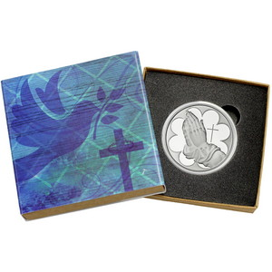 Praying Hands 1oz .999 Silver Medallion in Gift Box