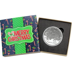 2018 Happy Holidays Festive Lamp Post 1oz .999 Silver Bar