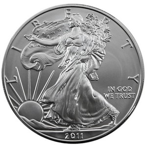 2011 W Silver American Eagle Burnished BU in OGP