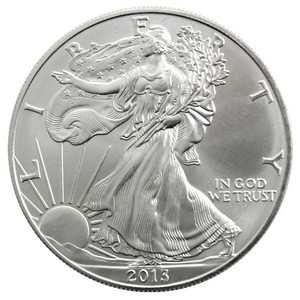 2013 W Silver American Eagle Burnished BU