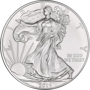 2014 W Silver American Eagle Burnished BU