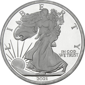2018 Silver American Eagle Replica 5oz .999 Silver Medallion