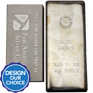 100oz .999 Silver Bar Our Choice Brand - Secondary Market
