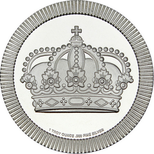 Crown Stackables 1oz .999 Silver Medallion