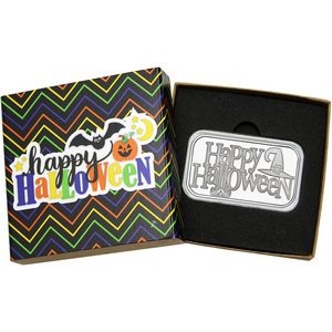 Happy Halloween Witch 1oz .999 Silver Bar