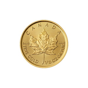 2019 Canada Gold Maple Leaf 1/10oz BU