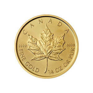 2019 Canada Gold Maple Leaf 1/4oz BU