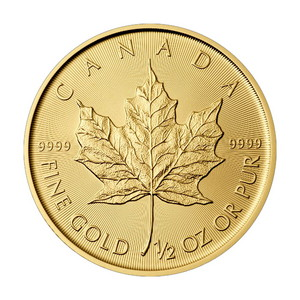 2019 Canada Gold Maple Leaf 1/2oz BU