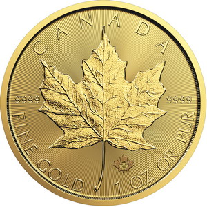2019 Canada Gold Maple Leaf 1oz BU