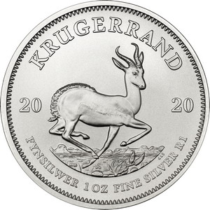2020 South Africa Silver Krugerrand 1oz BU Coin Single in Flip