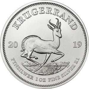 2019 South Africa Silver Krugerrand 1oz BU Coin