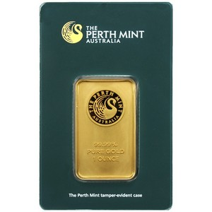 Australian Perth Mint 1oz Gold Bar - Secondary Market