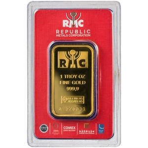 Republic Metals Corporation 1oz Gold Bar