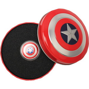 2019 Fiji Silver MARVEL Captain America Shield 10g Silver Domed Coin in OGP