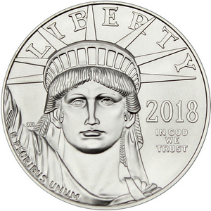 2018 Platinum American Eagle 1oz BU