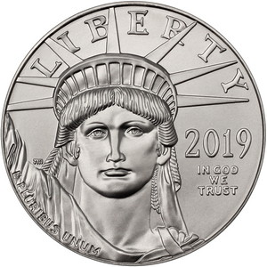 2019 Platinum American Eagle 1oz BU