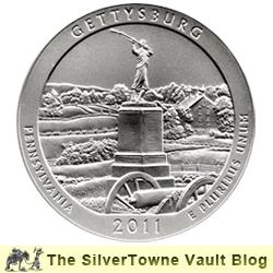 2011 P Gettysburg 5oz Silver Coins Now Available