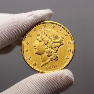 1904 $20 Gold Liberty Head Coin AU in Flip