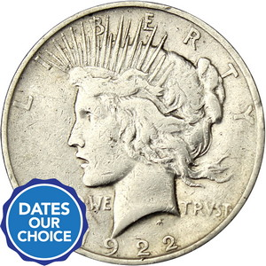 Cull Silver Peace Dollar Date Our Choice Single