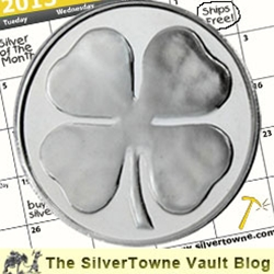 Four Leaf Clover Medallion - The March 2013 Silver of the Month