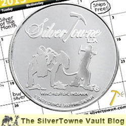 SilverTowne Trademark Silver Poker Chip - The April 2013 Silver of the Month