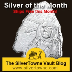 Arrowhead Shaped 1oz .999 Silver Medallion – The July 2013 Silver of the Month