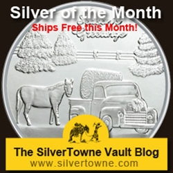 Season's Greetings Farm 1oz .999 Silver Medallion - The November 2013 Silver of the Month