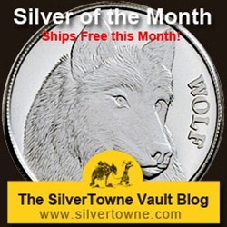 Wolf 1oz .999 Silver Medallion - The January 2014 Silver of the Month