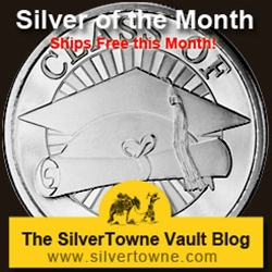 Graduation Class of 2014 1oz .999 Silver Medallion - The May 2014 Silver of the Month