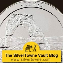 2014 P Arches National Park 5oz Silver Coins