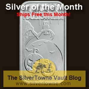 Happy Halloween Scary 1oz .999 Silver Bar – The October 2014 Silver of the Month