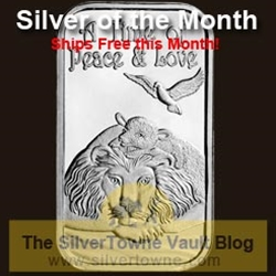 Lion and The Lamb 1oz .999 Silver Bar - The December 2014 Silver of the Month