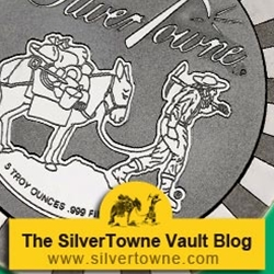 SilverTowne Stackables Trademark Prospector .999 Silver Medallions Now Available in 5 Troy Ounces