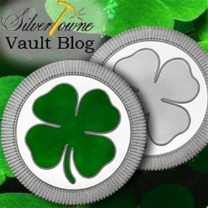 New 1 oz Silver Rounds Stackable Lucky 4-Leaf Clovers