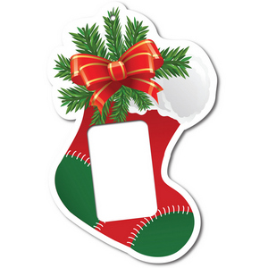 Christmas Stocking Foam Core Ornament for 1 Ounce Bar