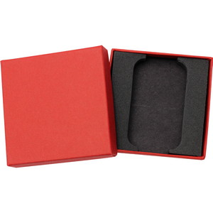 Embossed Red Linen Gift Box for 5oz Bar