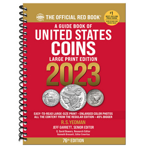 2019 The Official Red Book Guide of U.S. Coins Spiral Bound Large Print