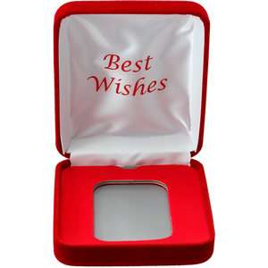 Best Wishes Red Velvet Clamshell Gift Box for 5oz Bars