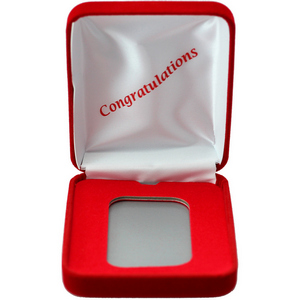 Congratulations Red Velvet Clamshell Gift Box for 5oz Bars