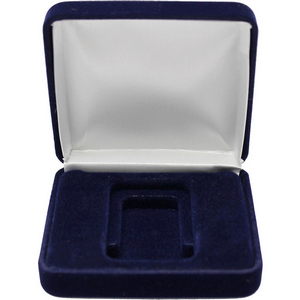 Dark Blue Velvet Clamshell Gift Box for Vertical 1oz Bars and Ingots