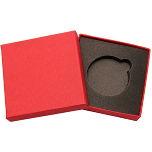 Embossed Red Linen Gift Box for 1oz 39mm Medallion
