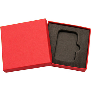 Embossed Red Linen Gift Box for 1oz Bar