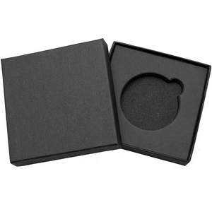 Embossed Black Linen Gift Box for 1oz 39mm Medallion
