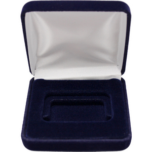 Dark Blue Velvet Clamshell Gift Box for Horizontal 1oz Bars and Ingots