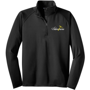 SilverTowne Men's Embroidered Logo Half Zip Pullover