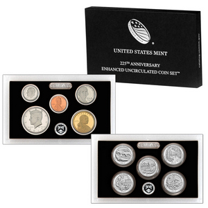 225th Anniversary 2017 S 10pc Enhanced Uncirculated Coin Set in OGP