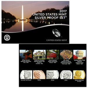 2017 S United States Mint 10pc Silver Proof Set