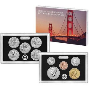2018 S United States Mint 10pc Silver Reverse Proof Set 50th Anniversary